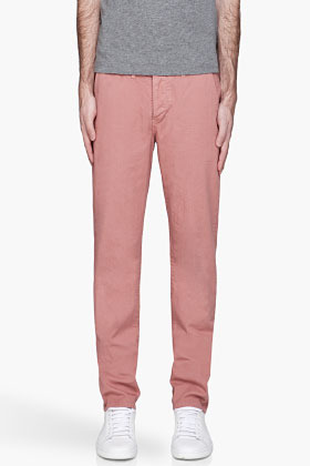 Paul Smith Dusty pink Slim Fit twill Trousers
