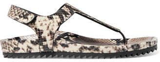 Pedro Garcia Amalia Snake-effect Leather Sandals - Snake print