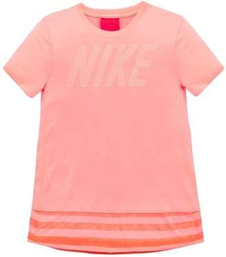 Nike Older Girls Short Sleeve Dry Top