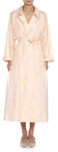 Bottega Veneta Studded Light Silk Robe Duster Coat