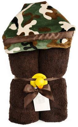 Swankie Blankie Camouflage Hooded Towel, Brown