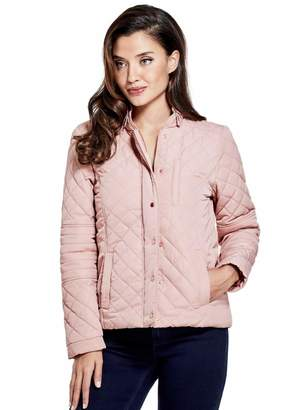 Factory Guess Women's Annett Quilted Panel Jacket