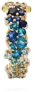 A.N.A khouri Khouri - Mirian 18kt Gold, Diamond & Sapphire Ear Cuff - Womens - Blue