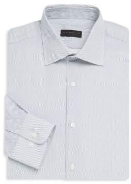 Cotton Dobby Patterned Dress Shirt