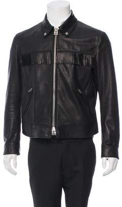 Tom Ford Leather Fringe Western Jacket