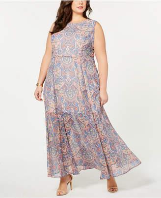Tommy Hilfiger Plus Size Paisley-Print Sleeveless Dress