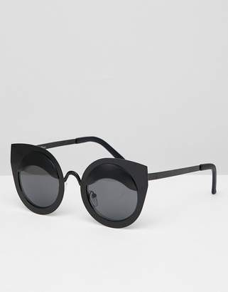 Jeepers Peepers Cat Eye Sunglasses In Black