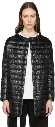 Herno Black Down Long Cocoon Coat