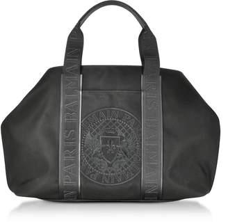 Balmain Black Nylon Men's Tote Bag