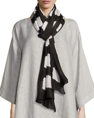 eskandar Rectangular Shibori Silk Scarf