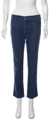 MiH Jeans Mid- Rise Straight- Leg Jeans