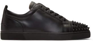 Christian Louboutin Black Louis Junior Spikes Sneakers