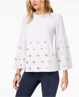 Michael Kors MICHAEL Grommet-Embellished Top, Regular & Petite, Created for Macy's