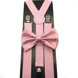 eef0cbdf5321 Coool Awesome Light Pink Wedding Accessories Adjustable Bow Tie & Suspenders