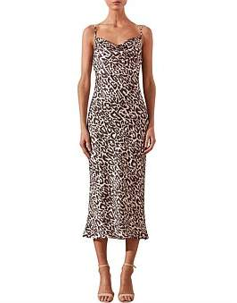 Shona Joy Isabella Cowl Slip Midi Dress