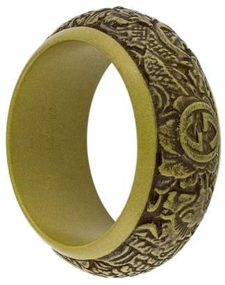 Gucci logo carved bracelet