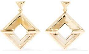 Noir 14-Karat Gold-Plated Earrings