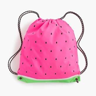 J.Crew Girls' watermelon drawstring backpack
