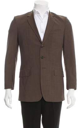 Burberry Mohair-Blend Three-Button Blazer