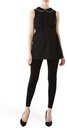 Women's Kimi And Kai 'Callie' Crystal Embellished Peter Pan Collar Sleeveless Maternity Blouse $68 thestylecure.com