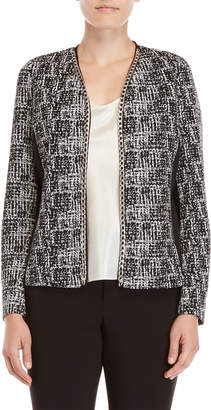 Rafaella Chain Trim Open Jacket