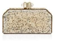 Judith Leiber Couture Faceted Paillette Clutch
