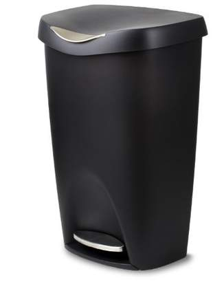 Umbra Brim 13 Gallon Trash Lid-Large Kitchen Garbage Can with Stainless Steel Foot Pedal