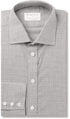 Turnbull & Asser Kingsman + Slim-Fit Prince Of Wales Checked Cotton And Cashmere-Blend Shirt