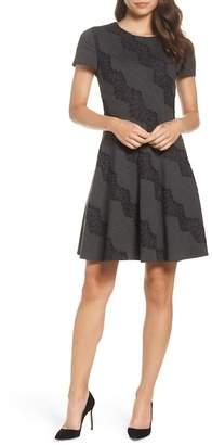 Eliza J Fit & Flare Cap Sleeve Dress