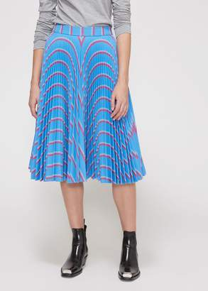 Calvin Klein Pleated Striped Skirt