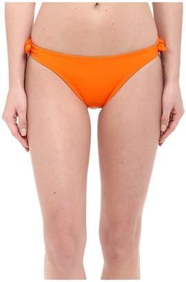 Shoshanna Solid Papaya Bow Bottoms Women's Swimwear