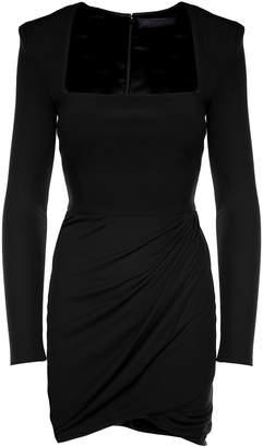 Versace Draped Stretch-crepe Mini Dress
