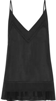 By Malene Birger Cara Chiffon-Trimmed Georgette Camisole
