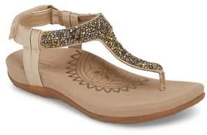 Aetrex Jade Embellished T-Strap Sandal
