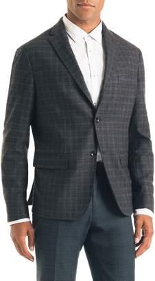 Good Man Brand Uptown Trim Fit Plaid Wool Blend Sport Coat