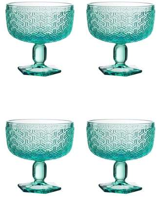 Jay Import Bistro Key Green Pedestal Bowl - Set of 4