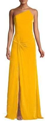 Cinq à Sept Liza One-Shoulder Knot-Front Gown