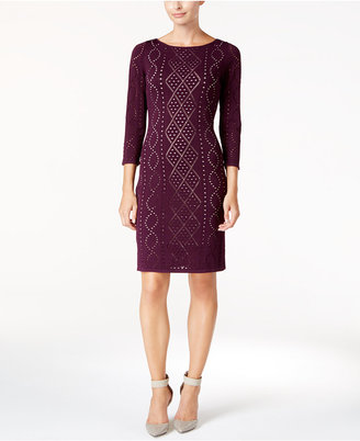 Calvin Klein Perforated Sweater Dress $134 thestylecure.com