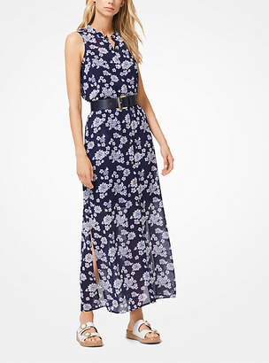 Michael Kors Floral Georgette Shirtdress