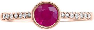 Effy Certified Ruby (5/8 ct. t.w.) & Diamond (1/10 ct. t.w.) Ring in 14k Rose Gold