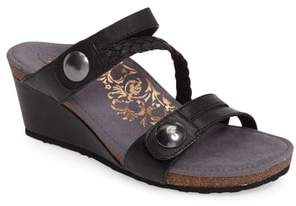 Aetrex Lydia Strappy Wedge Sandal