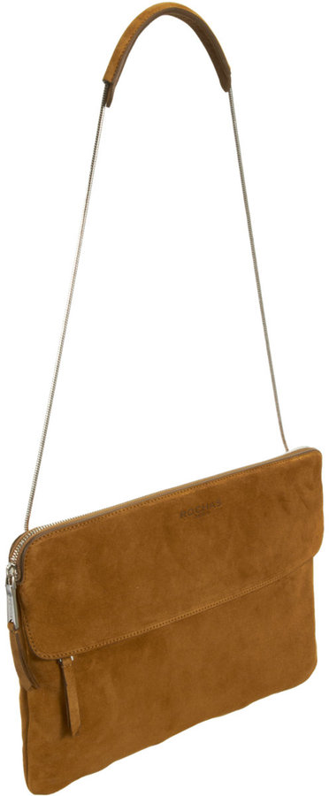 Rochas Suede Snake Chain Bag