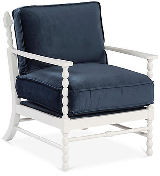 Mr & Mrs Howard Laguna Accent Chair - Navy Velvet