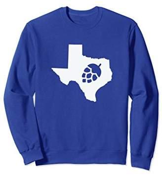 Texas Hops State Home Love Beer Home TX Brewing Sweatshirt