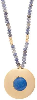 Joelle Gagnard Kharrat - Chapiteau Gold Plated Beaded Necklace - Womens - Blue