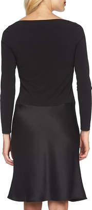 Cynthia Steffe Charlotte Long-Sleeve Combo Dress