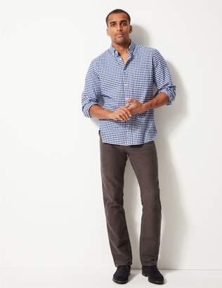 Marks and Spencer Pure Cotton Regular Fit Moleskin Trousers