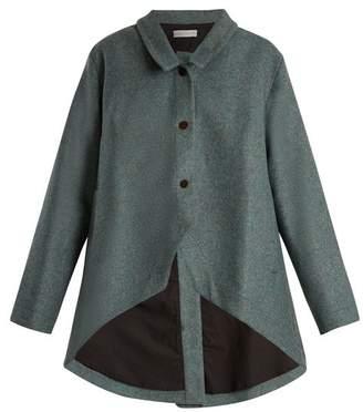 Palmer Harding Palmer//Harding Palmer//harding - Open Back Curved Hem Wool Jacket - Womens - Blue
