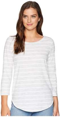 Lilla P 3/4 Sleeve Boat Neck Women's Long Sleeve Pullover