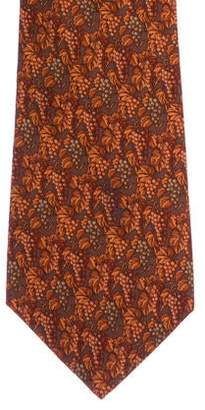 Salvatore Ferragamo Fall Foliage Silk Tie